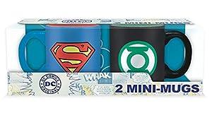 ABYstyle - DC COMICS - Set 2 mini-Tazas - 110 ml - Superman y Green Lantern