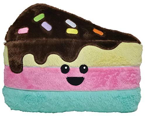 iscream Fleecekissen mit Kawaii-Duft, Bestickt Full Size Scented Cutie Cake Slice - Gestickte Dekorative Kissen Sham