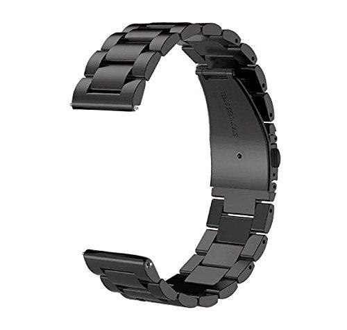Luxe Élégant Bracelet de montre de rechange Pour Samsung Watch Confortable Bracelet en acier inoxydable Pour Homme Femme 22mm Pour Samsung Gear S3 Noir