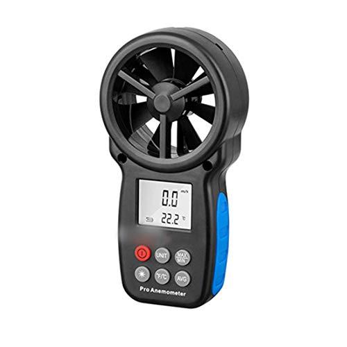 BERYLSHOP Digitaler integrierter Anemometer-Messinstrument-Hochpräzisionsmessgerät-Hochpräzisionsanemometer-Höhenmesser (Farbe : Schwarz)