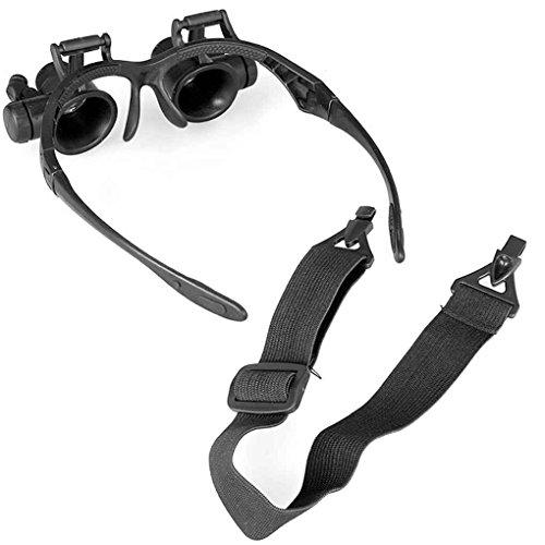 Vergrößerungsglas-10X 15X 20X 25X Augen-Schmucksache-Uhr-Reparatur-Vergrößerungsglas-Gläser mit 2 LED beleuchtet Mikroskop