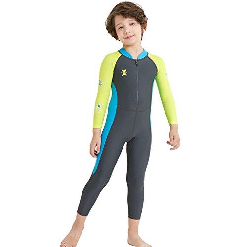 Niños Niñas Traje de Neopreno - Traje de baño Manga Larga Proteccion Solar UV 50+ Niñito Bodysuit Guardia de Erupción Playa Bebé Piscina