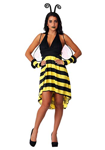 Women's Bumble Bee Beauty Fancy Dress Costume X-Small (Bumble Bee Womens Kostüm)