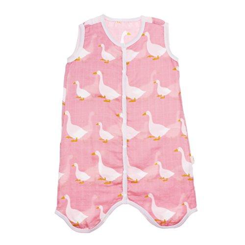 Preisvergleich Produktbild F Fityle Baby Sommerschlafsack Babyschlafsack für Mädchen und Jungen I Leichter für Den Sommer Ohne Ärmel - Schwan,  1-2T