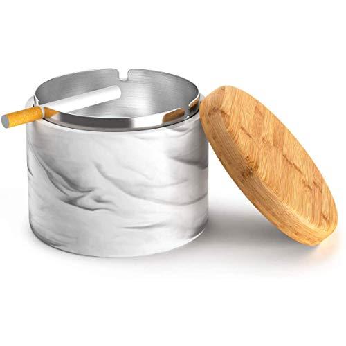 LEFJDNGB Posacenere con Coperchio Antivento casa o all'aperto Posacenere for Le Sigarette (Nero)