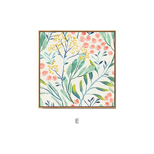 Fantasia Gemälde, einfache mediterrane Pflanze dekorative Gemälde, Stilleben, elegant und Multi-Malerei, kombinierte vertikale Version mit Rahmen, um die rahmenlose Malerei zu blockieren,C,80 * 80