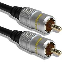 Cable Mountain - Cavo phono coassiale singolo RG59 per SPDIF/cavo per video composito e audio digitale con connettori dorati, 3 m