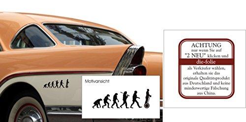 Preisvergleich Produktbild Segway, Fahrzeugaufkleber, Evolution, 300 mm x 100 mm, verschiedenen Farben (M070 Schwarz)
