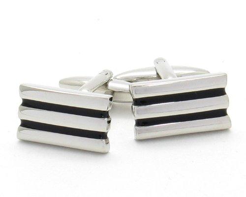 Bello nero a strisce Gemelli in argento Presentazione Box