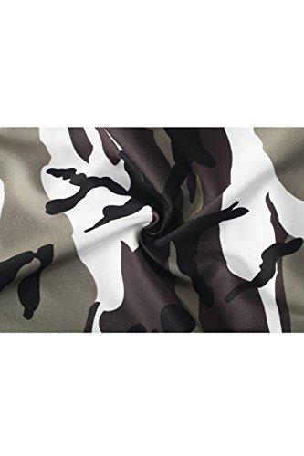 YACUN Le Donne Si Pantaloni Mimetizzazione Impronta Caviglia Lungo I Pantaloni Grey