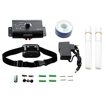ROGUCI Clôtures anti-fugue,Colliers anti-aboiement,électrique Collier systèmes électronique de dressage de contrôle de aboiements pour chiens