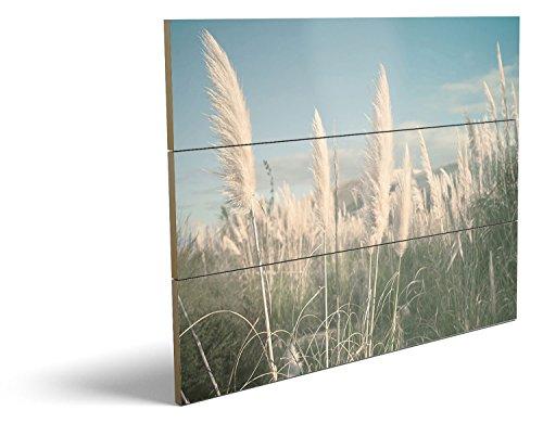 Auf dem Feld, qualitatives MDF-Holzbild im Drei-Brett-Design mit hochwertigem und ökologischem UV-Druck Format: 80x60cm, hervorragend als Wanddekoration für Ihr Büro oder Zimmer, ein Hingucker, kein Leinwand-Bild oder Gemälde