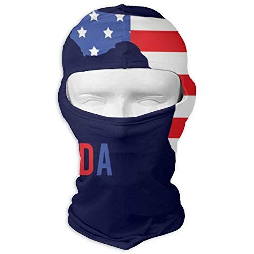 USA Flag Ski Mask Sun UV Protection Dust Protection Wind-Resistant Face Mask for Running Cycling Fishing ()