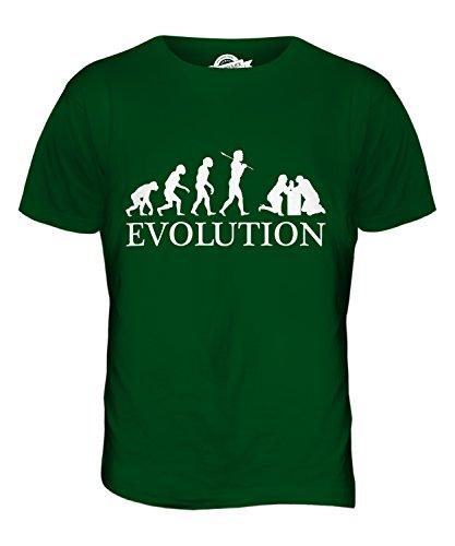 CandyMix Armdrücken Evolution Des Menschen Herren T Shirt Flaschengrün