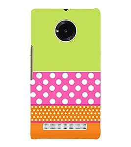 Green Pink Orange Pattern 3D Hard Polycarbonate Designer Back Case Cover for YU Yunique