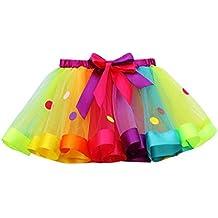 Falda del Tutu para Niña,SHOBDW Niños Regalo De Cumpleaños Color De Falda del Arco
