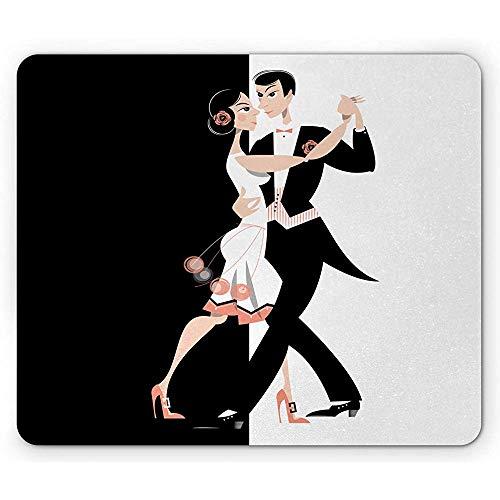 Modernes tanzendes Paar des Alten Hollywood-Mauspads, das das einfache Design von Pas de Deux durchführt