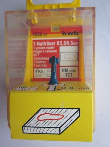 KWB T-Nutenfräser HM Aufhängeschlitzfräser, 7555-20