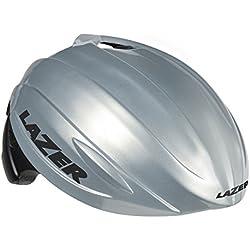 Lazer Casco Blade Fast, Todo el año, Unisex, Color Silver/Mat Black, tamaño Small