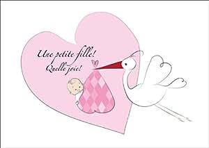 mignonne carte de b 233 b 233 fille carte de f 233 licitations pour la naissance annonce de naissance