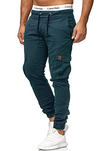 OneRedox Herren Chino Pants | Jeans | Skinny Fit | Modell 3301 (31/32 (Fällt eine Nummer Kleiner aus), Navy)
