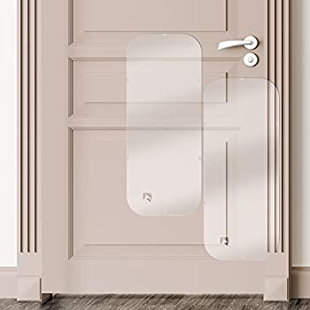 Petfect Porte Scratch Protector?Premium Lot de 2compartiments de porte pour chien pour usage intérieur et extérieur?Clear (35.5x 15,5)...