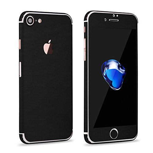 OKCS Glamoures Sticker für Apple iPhone 7 Skin Handyfolie Metallic - Batman Black