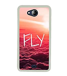Fly 2D Hard Polycarbonate Designer Back Case Cover for Micromax Canvas Play Q355