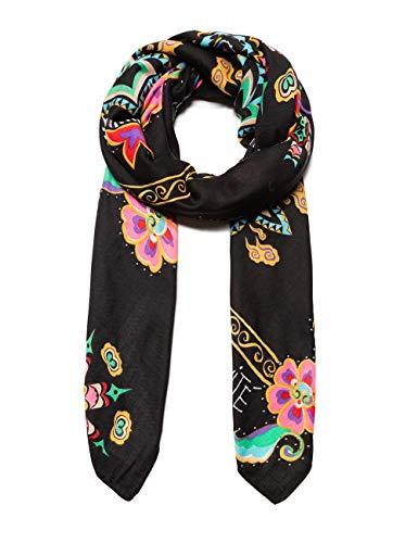 desigual foulard new tapestry sciarpa, nero (negro 2000), unica (taglia produttore: u) donna