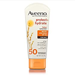 Aveeno Sunscreen Protect Plus Hydrate Lotion SPF 50, 3 Ounce