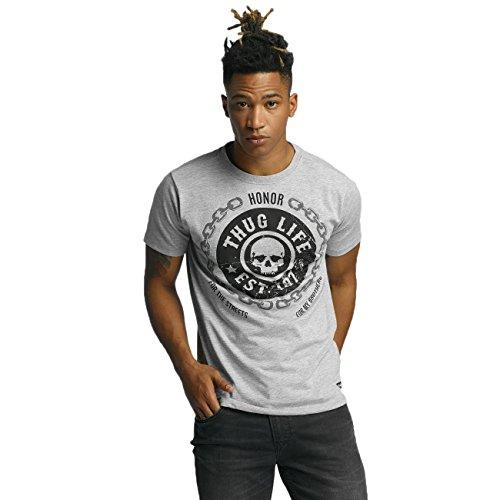 Thug Life Herren Oberteile / T-Shirt Barley Grau