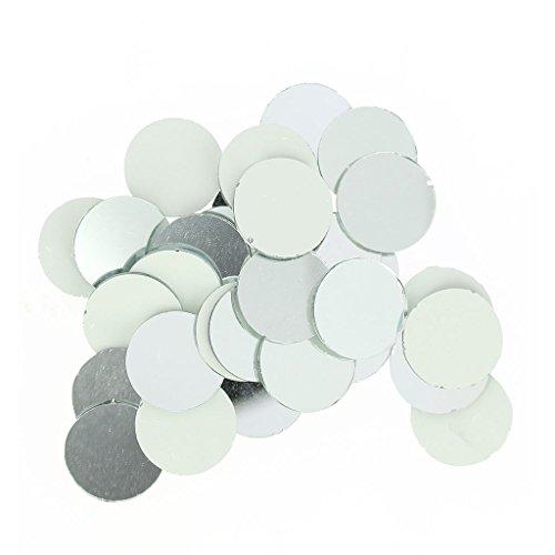 Set de 60 mosaïques miroir en verre rond 20 mm x1