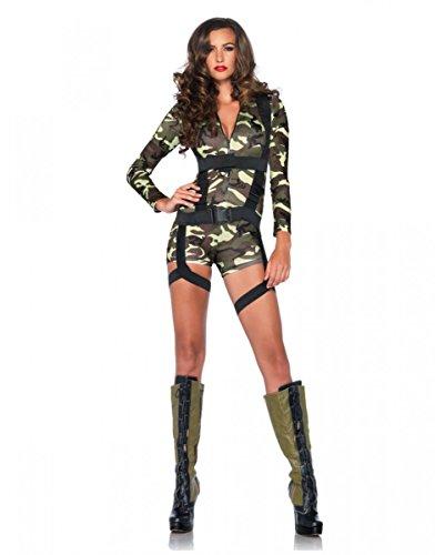 erisches Camouflage US Army Fallschirmjägerin Kostüm für Frauen L (Army Girl Kostüm Halloween)