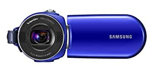 "Samsung F34 16GB SD Flash Camcorder  - Blue, (34 Optical zoom, 2.7"" wide LCD, H.264 recording, Still Image Capture, 3 Hours Battery,)"