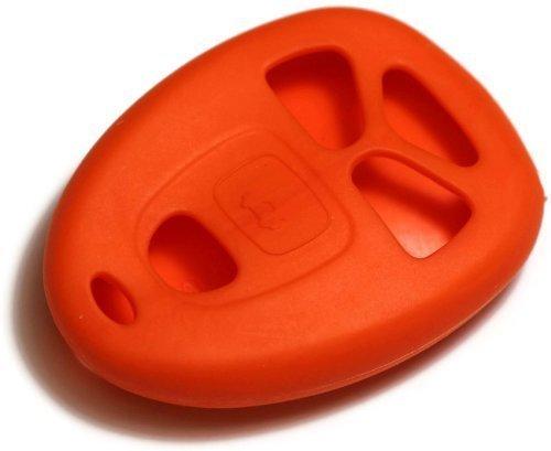 dantegts orange Silikon Schlüsselanhänger Schutzhülle Smart-Fernbedienung Beutel Schutz Schlüssel Kette passend für: Cadillac Escalade 07–12W/REMOTE START (Cadillac Escalade Schlüssel)