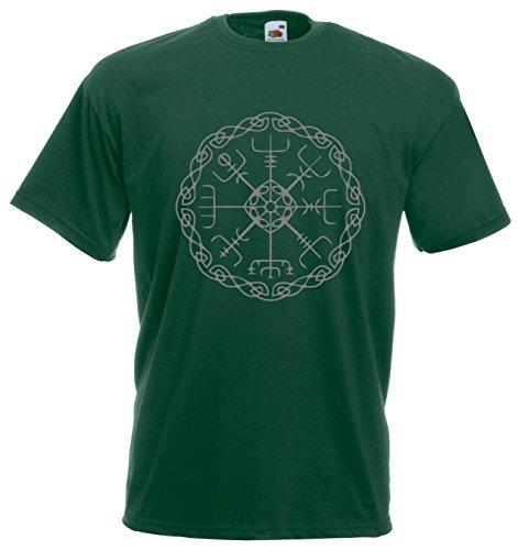 Settantallora - T-shirt Maglietta J1180 Vegvisir Rune Magiche Taglia L