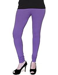 Selenas Womens Cotton Leggings(S03_Purple_Free Size)