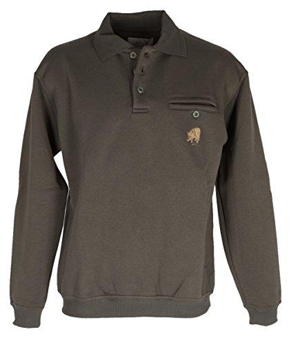 Hubertus Herren Sweatshirt 10223990 Oliv 1007 Größe XXL