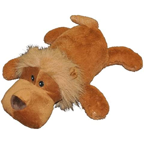 Patchwork Pet Toughy Wuffies Lion 15-Inch Squeak Toy for Dogs by Patchwork Pet