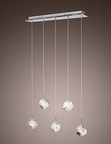 SWENT Simple moderne/retro/LED suspendus Max 10W/moderne contemporain / Cristal Pendentif Île Chrome Feux Salle à manger/cuisine équipée,220-240V
