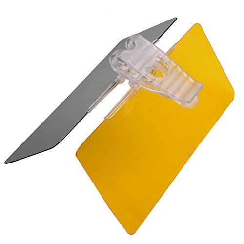 E Support 2 in 1 Auto Sonnenblende Blendschutz Transparent Anti-Glare Glas für Tag und Nacht Sonnenschutz Sichtschutz Reinigungstuch