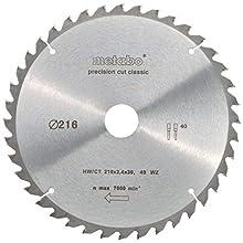 Metabo 628060000 Circular Saw-Blade HW/CT 216x30, 40 WZ 5, Green