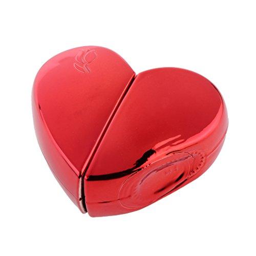 25ml Bouteilles Vaporisateur De Parfum Forme en Coeur Atomiseur Coffret Rechargeable Cadeau - Rouge, Taille unique