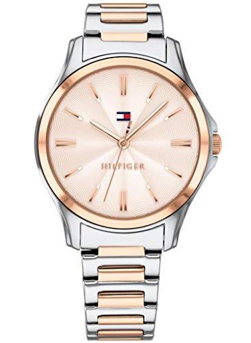 Tommy Hilfiger Damen Analog Quarz Uhr mit Edelstahl Armband 1781952
