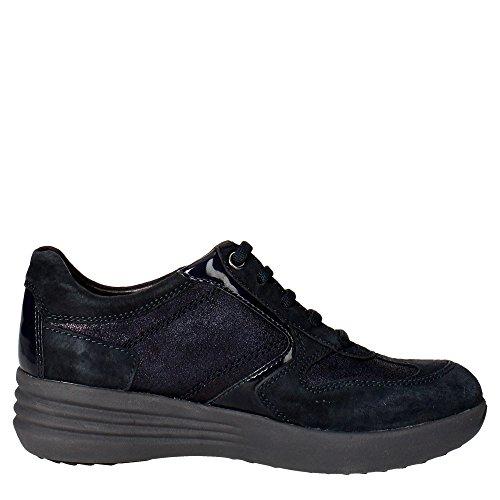Stonefly 105305 100 Sneakers Femme Suède/vernis Bleu Bleu