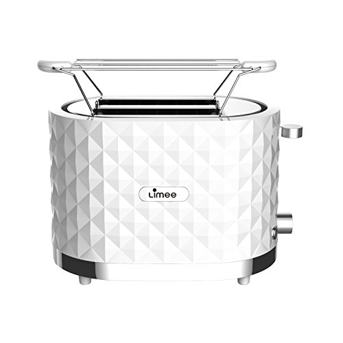 Limee toaster 2 tranches Grille-pain Refroidir Touch avec S / S bun chaud (blanc)