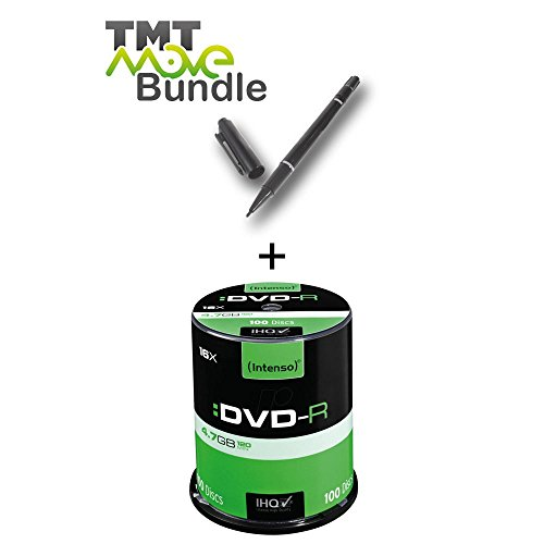 Intenso DVD-R 4,7GB 16x Speed 100er Spindel DVD-Rohlinge 4101156 incl. Gratis CD/DVD Permanent Marker Stift