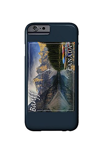 Banff, Canada - Moraine Lake Canoes (iPhone 6 Cell Phone Case, Slim Barely There) -