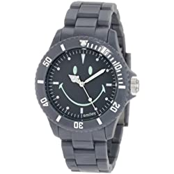 "Smiley ""Happy Time"" Men's Urban Dark Grey Analogue Watch WGS--UDGYV01"