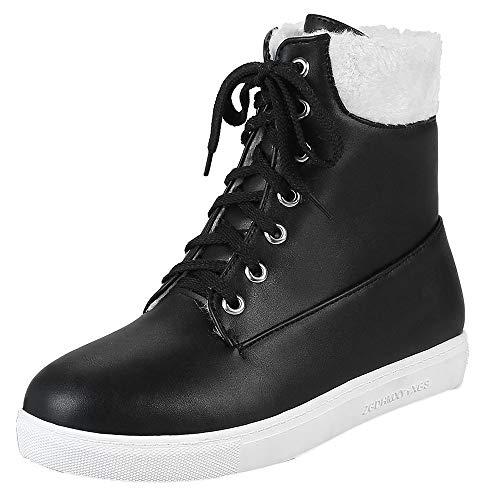 LuckyGirls Botas para Mujer Forrada de Piel Botines Zapatos Planos Impermeable Nieve...
